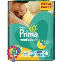 Prima Bebek Bezi Aktif Bebek Mega Paket Yenidoğan 1 Beden 80 Adet