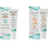 Aknicare Tinted Cream Dore, 50 Ml+Aknicare Sun Spf 30, 50 Ml