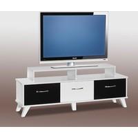 Abre-452 Moda Tv Sehpası Beyaz Siyah