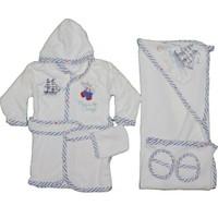 Nenny Baby Bte-56 Bornoz Seti A.Mavi
