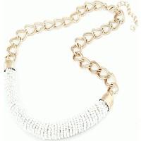 Trend Takı Moda Beyaz Boncuk Clavicle Bohemia Stil Choker Kolye