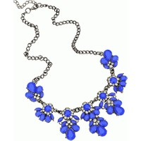 Yeni Trend Choker Moda Mavi Kolye Charms Kristal En Güzel Yaka Kolyeler