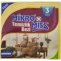 Mikromiss Sarı 3Lü Ekonomik Temizlik Bezi