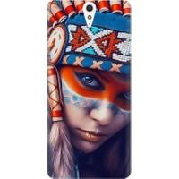 Kapakolur Sony Xperia C5 Tribal Baskılı Kapak Kılıf + Koruyucu Cam