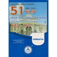 A Yayınları 51 Yılın Ygs-Lys Coğrafya Soruları Ve Ayrıntılı Çözümleri