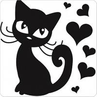 Fotografyabaskı Sevimli Kedi Bardak Altlığı Baskı 4'lü Set