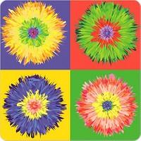 Fotografyabaskı Çiçekler Bardak Altlığı Baskı 4'lü Set
