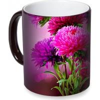 Fotografyabaskı Yıldız Çiçeği Sihirli Siyah Kupa Bardak Baskı