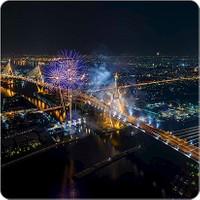 Fotografyabaskı Yılbaşı Gecesi Bardak Altlığı Baskı 4'lü Set