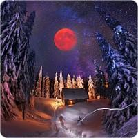 Fotografyabaskı Gorgan'da Kış Bardak Altlığı Baskı 4'lü Set