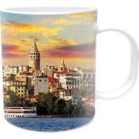 Fotografyabaskı Galata İstanbul 2 Beyaz Kupa Bardak Baskı