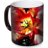 Fotografyabaskı Hibisküs Çiçeği 2 Sihirli Siyah Kupa Bardak Baskı