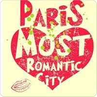 Fotografyabaskı Romantik Şehir Paris Bardak Altlığı Baskı 4'lü Set