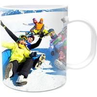Fotografyabaskı Kış Eğlencesi Beyaz Kupa Bardak Baskı