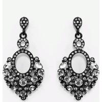 Şık Tasarım Kristal Taşlı Siyah Küpe Yeni Moda Küpeler