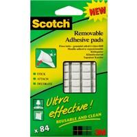 Scotch® Tekrar Kullanılabilen Şeffaf Kareler 18 adet / 24mm x 24mm