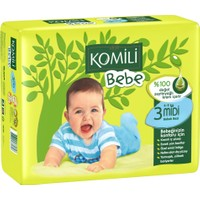 Komili Bebe Bebek Bezi 3 Beden İkiz Paket 34 Adet