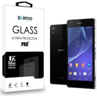 Eiroo Sony Xperia Z2 Ön + Arka Tempered Glass Cam Ekran Koruyucu