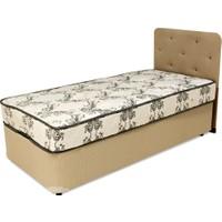 Tabba Burcu Tek Kişilik Baza Başlık Yatak Set 90x190