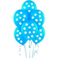 Elnuru Beyaz Puanlı Balon - Mavi