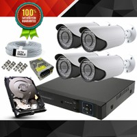 WALKERTONE Güvenlik Kamera Sistemi 4 Kameralı Analog-Kur Çalıştır