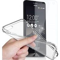 Angel Eye Asus Zenfone 2 5,5 Kırılmaz Cam Ekran Koruyucu + Şeffaf Silikon Kılıf