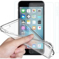 Angel Eye iPhone 6 Kırılmaz Cam Ekran Koruyucu + Şeffaf Silikon Kılıf