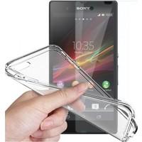 Angel Eye Sony Xperia Z5 Premium Ekran Koruyucu + Şeffaf Silikon Kılıf