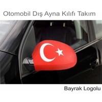 Otomobil Dış Ayna Kılıfı Bayrak Logolu Takım