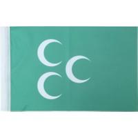 Ekin Bayrakçılık Osmanlı Bayrağı 3 Hilal 50x75cm.