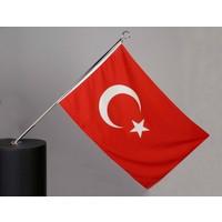 Ekin Bayrakçılık Bina Dış Cephe Bayrak Direği-Kısa (130cm.)