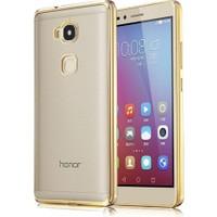CoverZone Huawei GR5 Kılıf Metalize Renkli Kenar Silikon