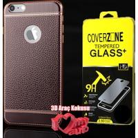 CoverZone iPhone 6 Plus 6S Plus Kılıf Elite Silikon Ekose + + 3d Araç Kokusu