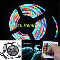 Vip 16 Renk 5MT RGB Dış Mekan Şerit Led Kumandalı +2 Amper Adaptör