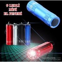 Vip Süper Parlak 9 Ledli Metal Mini El Feneri