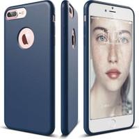 Elago iPhone 7 Plus Slim Fit Soft Kılıf Silikon Tam Koruma Lacivert