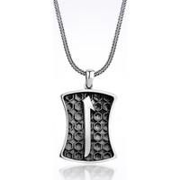 Mina Silver Arapça Elif Harfi Taşsız Gümüş Erkek Kolye