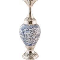 El Yapımı ve Gümüş Kaplama 25 cm Vazo