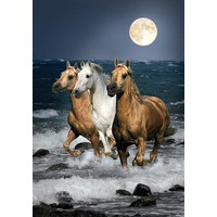 Clementoni 1500 Parça Puzzle - Koşan Atlar