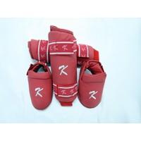 Kihon Karate Kaval Ve Ayaküstü Koruyucu Set Kırmızı