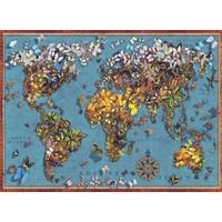 Anatolian 1000 Parça Kelebekli Dünya Haritası Puzzle