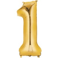 Elitparti Rakam Folyo Balon - Altın-1