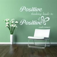 Positive Thinking Duvar Sticker