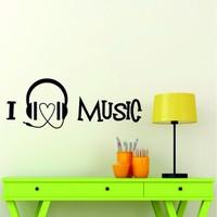 I Love Music Duvar Sticker