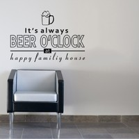 Beer O'clock Duvar Sticker