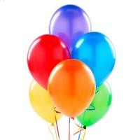 Metalik Renkli Balonlar 100 Adet