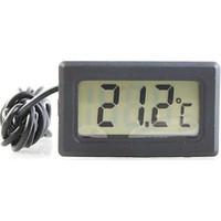 Diwu Mini Dijital Prob Termometre (siyah)