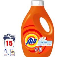 Alo Sıvı Çamaşır Deterjanı Kar Çiçeği 15 Yıkama Beyazlar ve Renkliler İçin