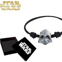 Sd Toys Darth Vader Head Silver Plated Bracelet Bileklik