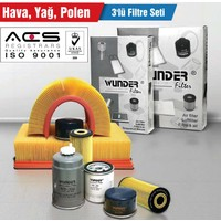 Seat Altea / Altea Xl / Freetrack 2.0 Tdi (5P1, 5P5) 100Kw/136Ps (04/04 -> 12/07 ) Hava-Yağ-Polen Filtre Seti
